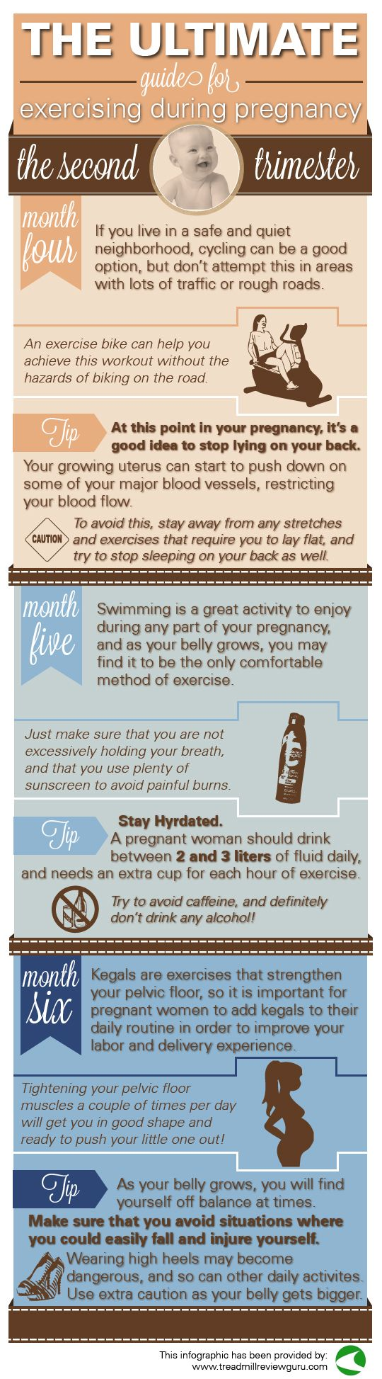 second trimester exercise guide