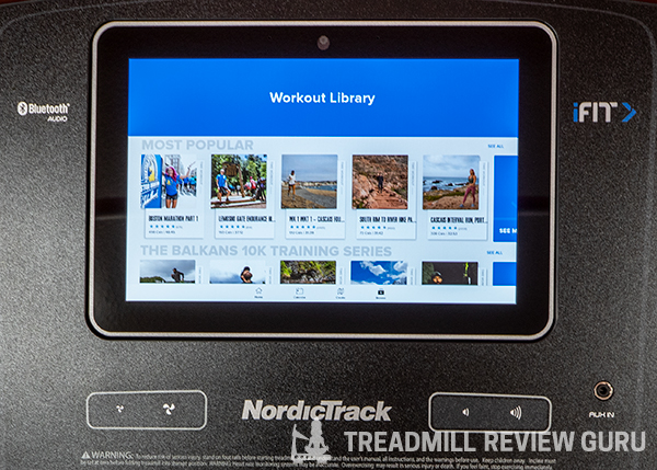 NordicTrack Commercial 1750 Pre-programmed Workouts