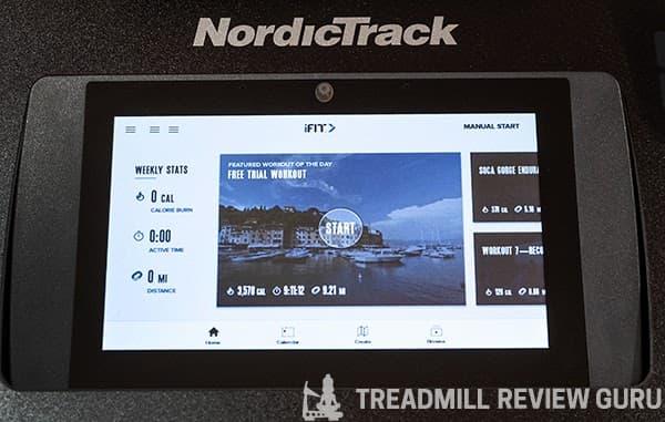 NordicTrack Freestride Trainer FS7i Onboard Workouts