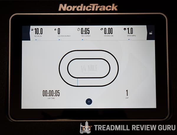 NordicTrack X11i Treadmill Onboard Workouts