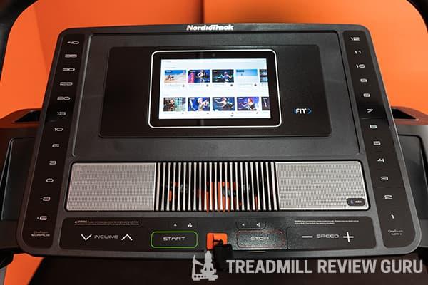 NordicTrack X11i Treadmill Screen