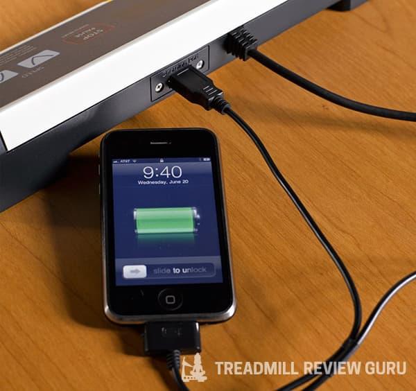 LifeSpan TR1200 USB charging port