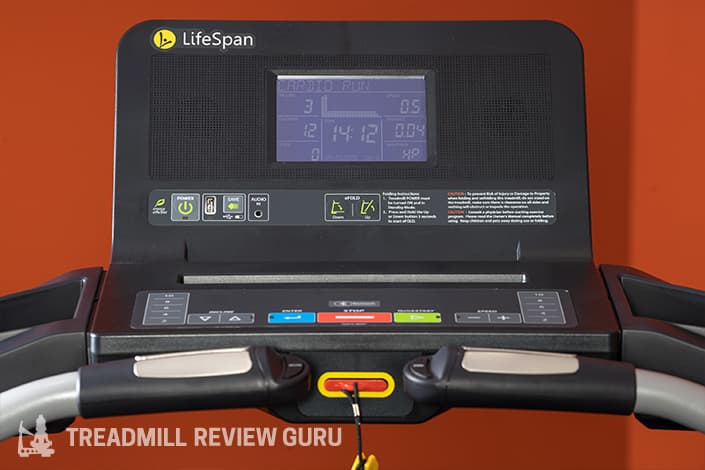 LifeSpan TR2000e User Interface