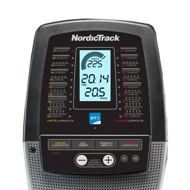 Nordictrack RW900 Rower Screen