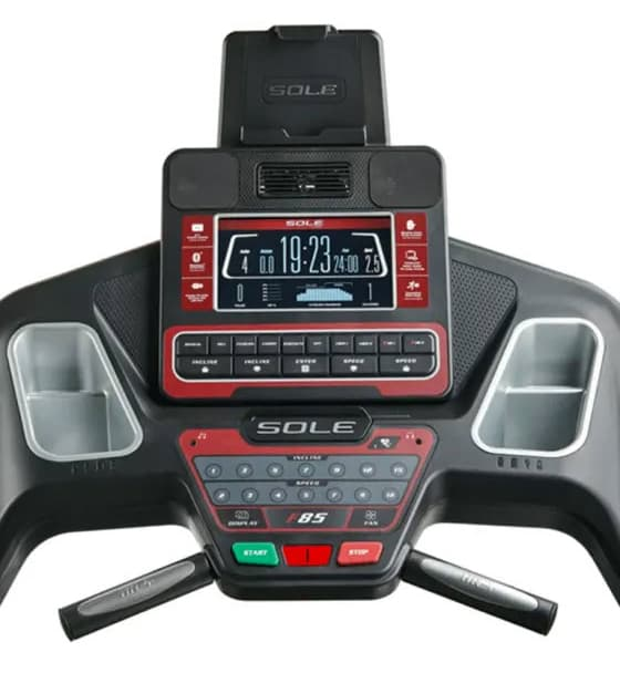 Sole F85 console and tablet holder