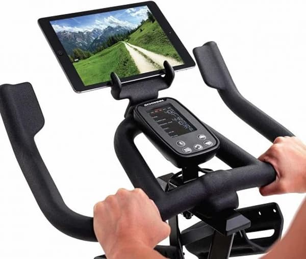 Schwinn IC4 console and tablet holder