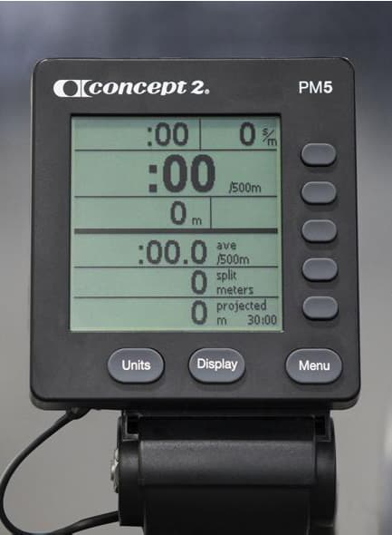 Concept2 Model E Console Data Display
