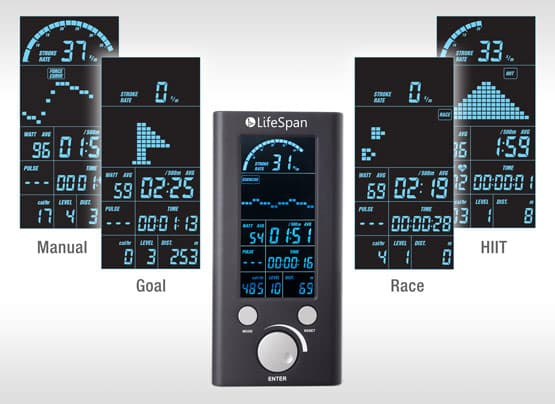 LifeSpan RW7000 console screens