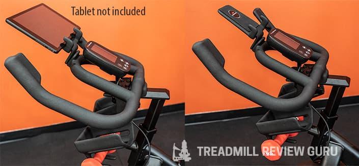 Bowflex C6 Exercise Bike handlebars tablet holder