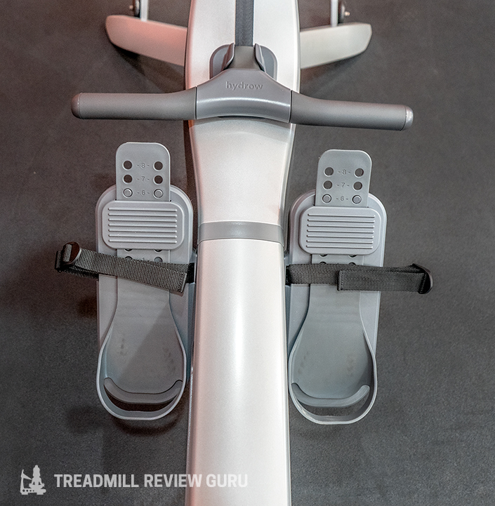 Hydrow Rower pedals and handle