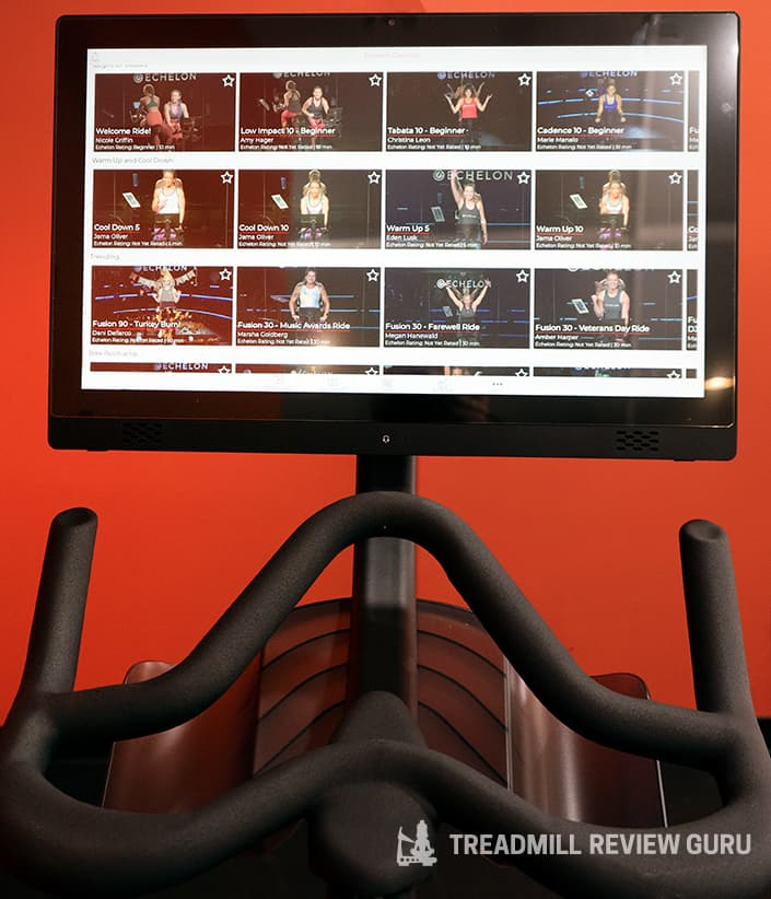 Echelon EX5s Screen and handlebars