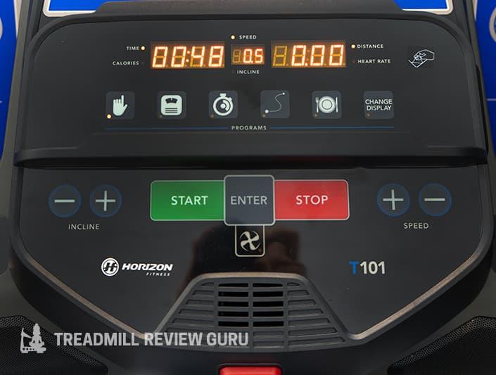 Horizon T101 start stop buttons