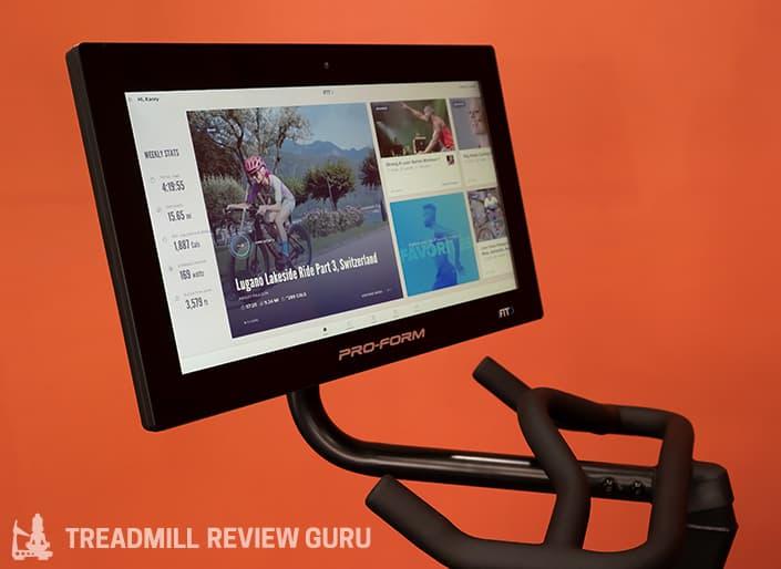 ProForm Pro 22 Exercise Bike Screen