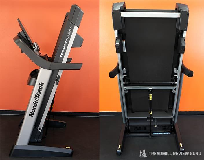 Nordictrack 2950 treadmill folded