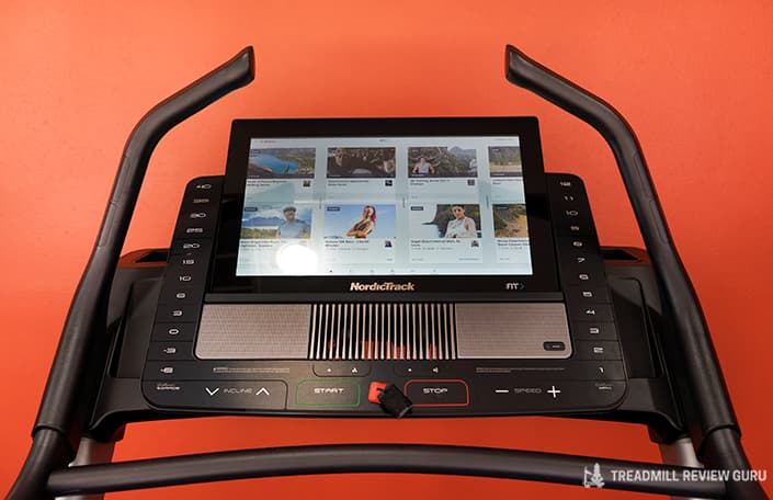 Nordictrack x22i Incline trainer console sled push bars