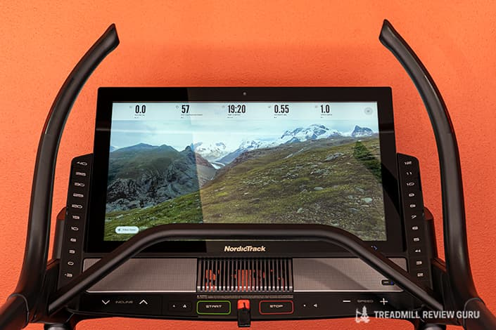Nordictrack x32i console touchscreen