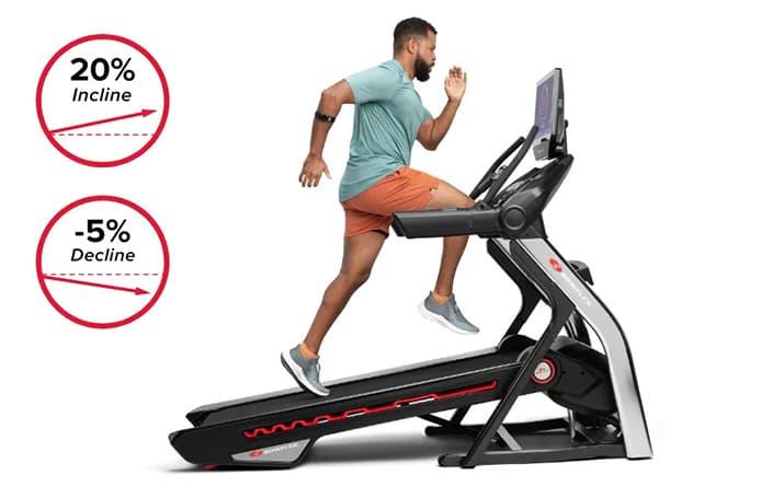 Bowflex 22 Treadmill incline decline