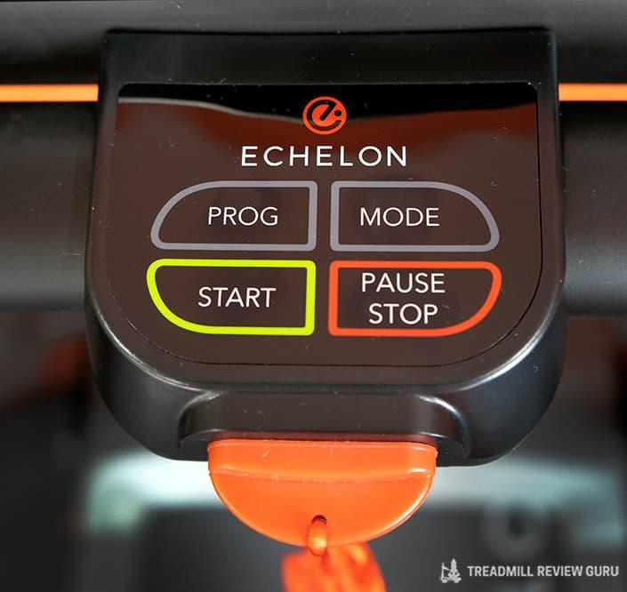 Echelon Stride control panel start stop