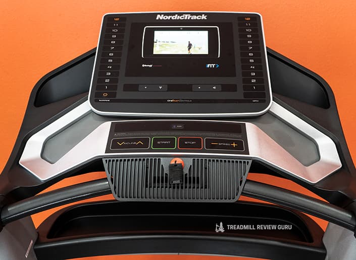 Nordictrack EXP7i console layout