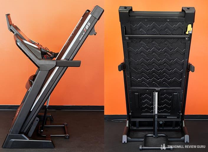 Sole F85 Treadmill folded